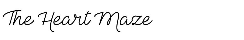The Heart Maze font