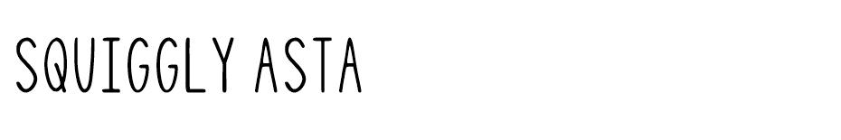 Squiggly Asta font